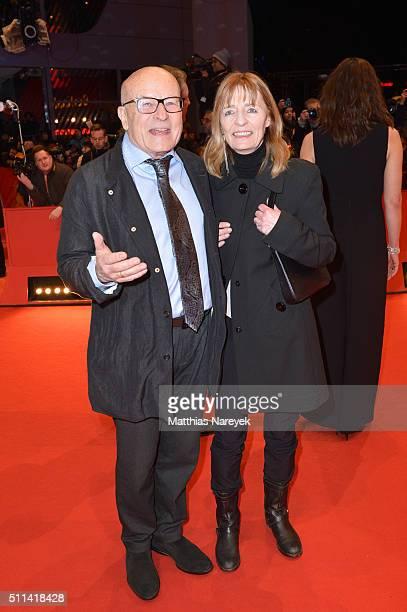 German filmmaker Volker Schloendorff and his wife Angelika Schloendorff attend the closing ceremony of the 66th Berlinale International Film Festival...