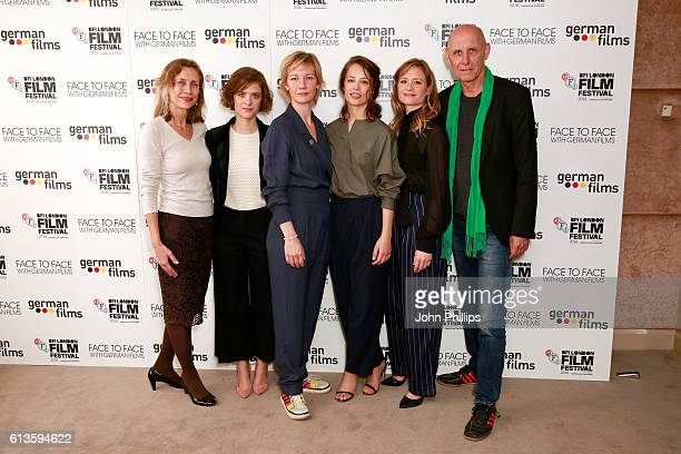 German Films Managing director Mariette Rissenbeek Liv Lisa Fries Sandra Huller Paula Beer Julia Jentsch and producer Peter Herrmann attend the 'Face...