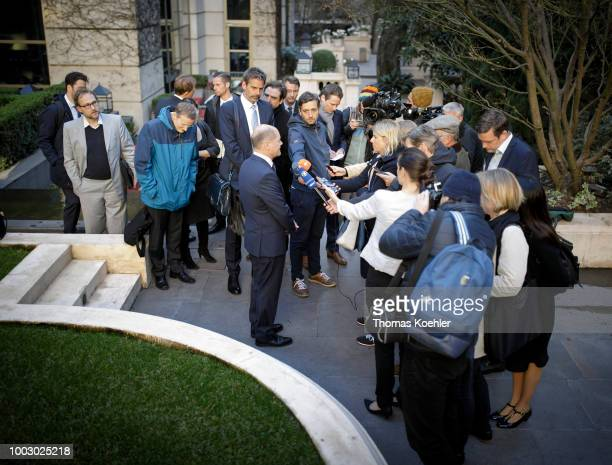 German Finance Minister Olaf Scholz meets with US Secretary of the Treasury Steven Mnuchin within the G20 Finance Ministers and Central Bank...
