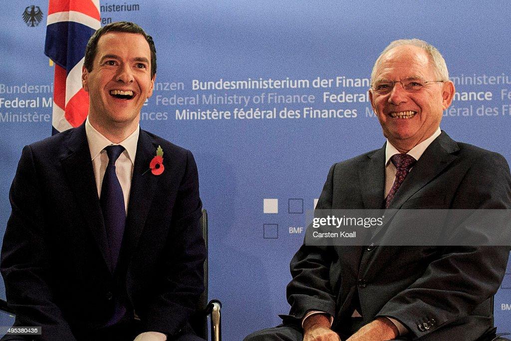 Schaeuble And Osborne Meet In Berlin : News Photo