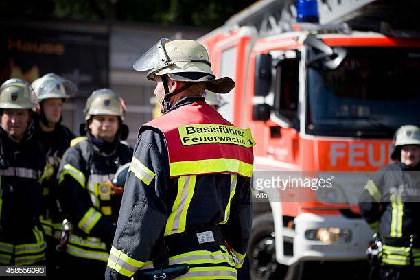 german firefighters - firetruck stock photos and pictures