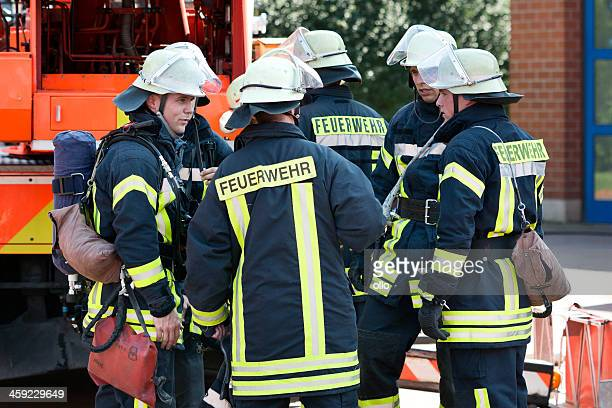 german firefighters - fire station stock photos and pictures