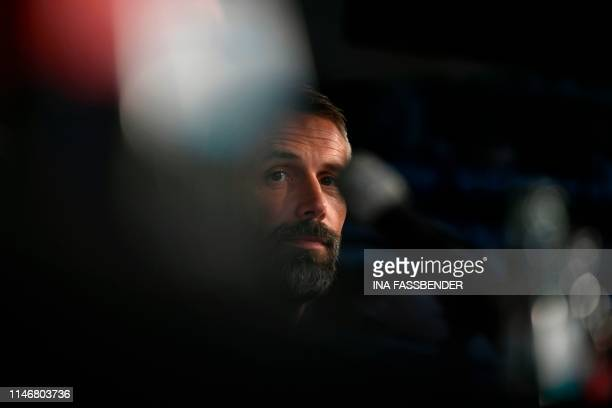 German first division Bundesliga football culb Borussia Moenchengladbach's new head coach Marco Rose gives a press conference at the club's trainings...