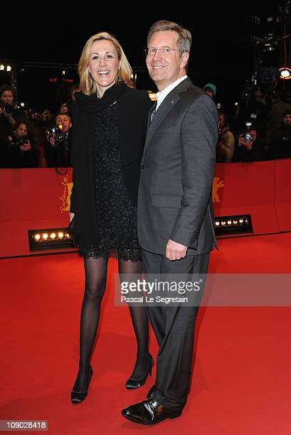 German First Lady Bettina Wulff and German President Christian Wulff attend the 'Almanya Willkommen in Deutschland' Premiere during day three of the...