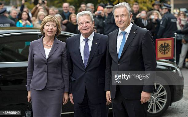 German First Lady Daniela Schadt German President Joachim Gauck and Mayor of Berlin Klaus Wowereit attend a ceremony to celebrate the 25th...