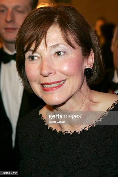 German First Lady EvaLuise Koehler attends the Cinema for Peace Charity Gala on February 12 2007 in Berlin Germany The gala is traditionally held...