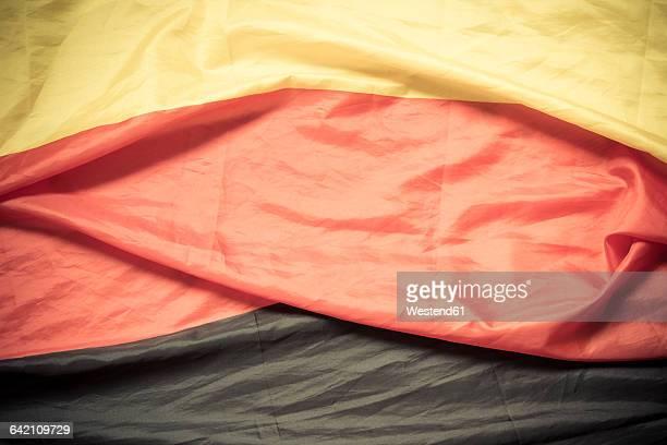 German flag, close-up