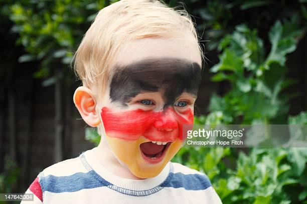 German flag face paint
