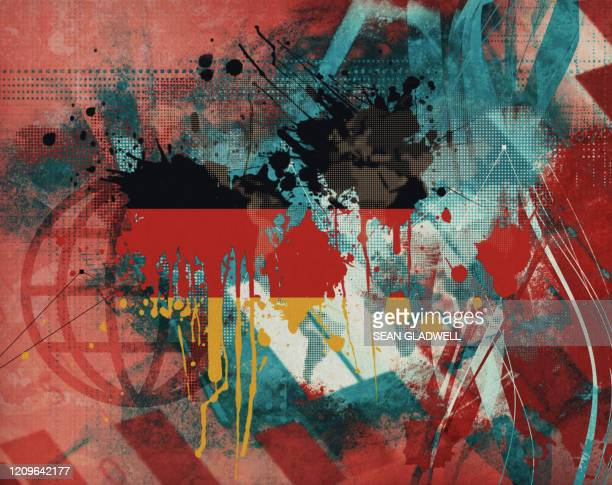 german flag graphic abstract - painting stock pictures, royalty-free photos & images