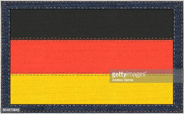 German flag in denim