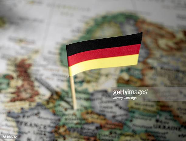 German flag in map