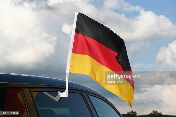 Deutsche Flagge auf der Oberseite ein Auto