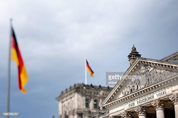 Deutsche Flaggen auf der Reichstag