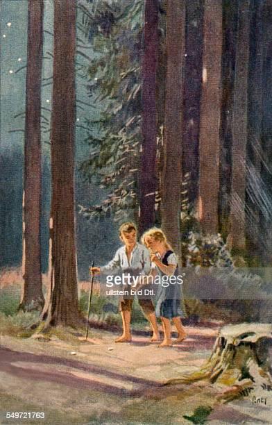 German folk tales Hansel and Gretel Illustration collector cards 'german fairy tales' 1930ies