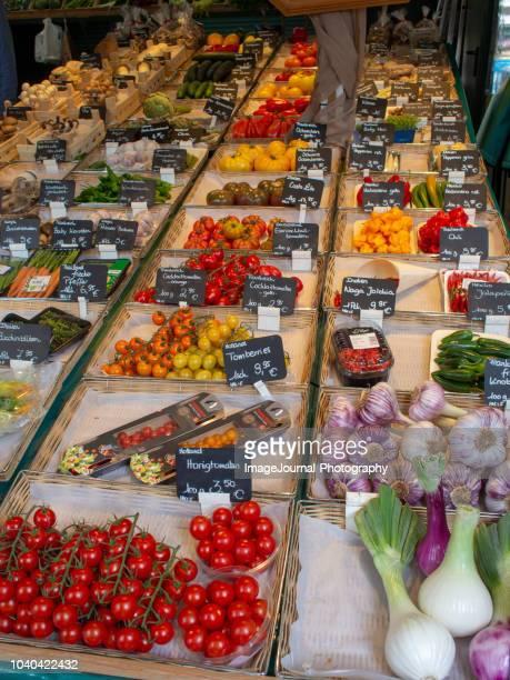 german food market - food journal imagens e fotografias de stock