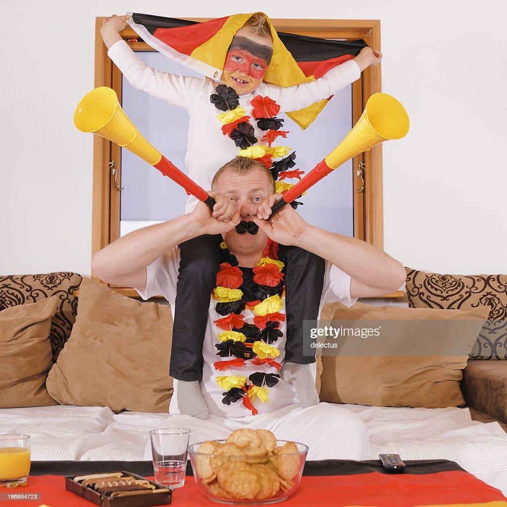 German football emotions : Stock Photo