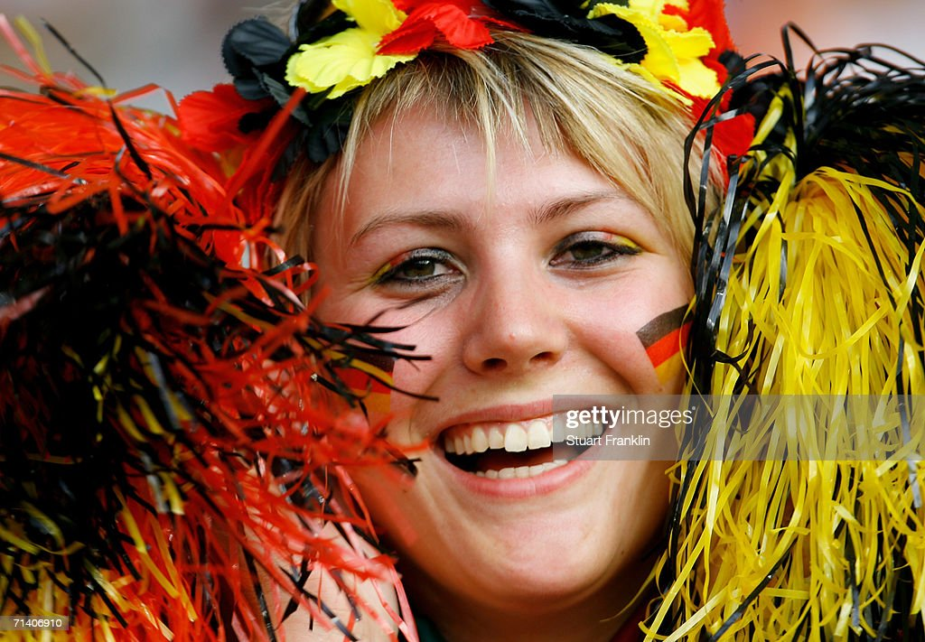 A German football fan during the FIFA World Cup Germany 2006 Third Place Play-off match between Germany and Portugal played at the Gottlieb-Daimler Stadium on July 8, 2006 in Stuttgart, Germany.