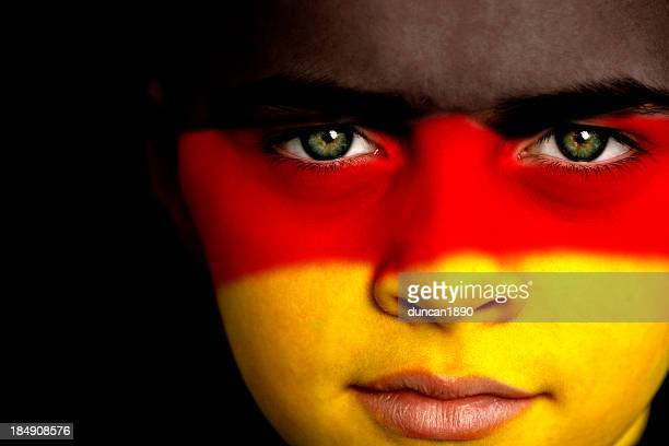 german football fan - german flag stock pictures, royalty-free photos & images