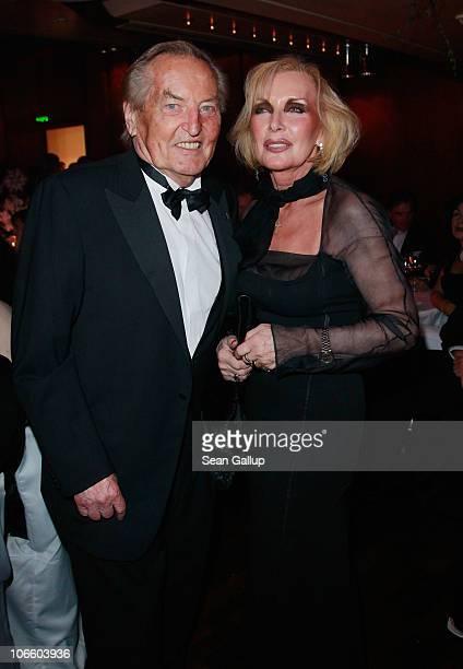 German Football Federation Honourary Preisdent Gerhard MayerVorfelder and his wife Margit MayerVorfelder attend the Sportpresseball 2010 at Alte Oper...