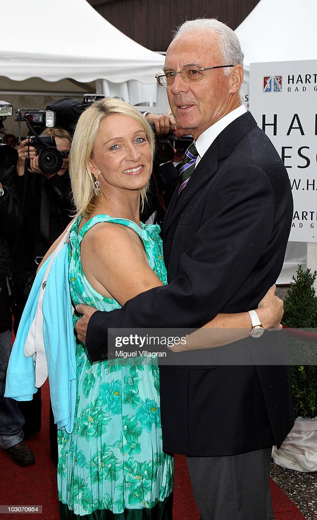 German football legend Franz Beckenbauer and his wife Heidi attend the gala dinner of the Kaisercup Golf tournament on July 24, 2010 in Bad Griesbach, Germany.