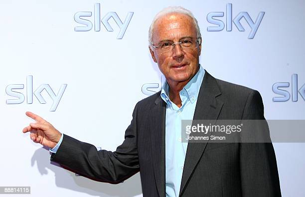 German football legend Franz Beckenbauer arrives for the Sky pay TV channel launch at Schrannenhalle on July 3, 2009 in Munich, Germany.