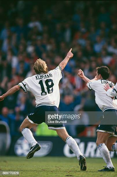German football player Jürgen Klinsmann of Tottenham Hotspur during a match against Crystal Palace in the FA Carling Premiership, Selhurst Park,...
