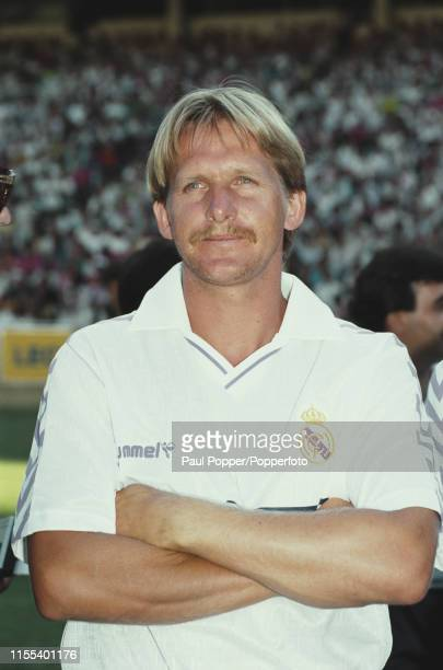 German footballer Bernd Schuster midfielder with Real Madrid CF pictured prior to playing for Real Madrid in a 198990 La Liga match in Spain in 1989