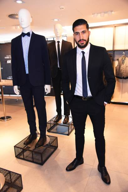 fotos e imagens de emre can x h m collection launch in frankfurt getty images. Black Bedroom Furniture Sets. Home Design Ideas