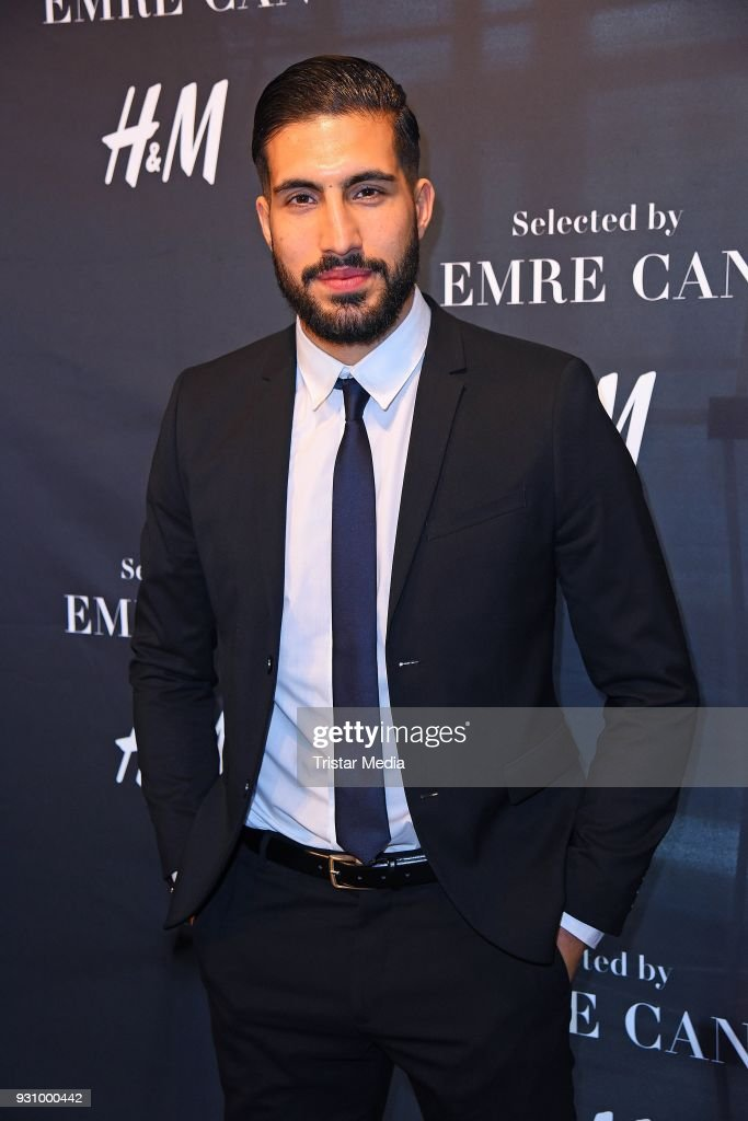 German footballer Emre Can presents his new collection in cooperation with H&M at H&M store Auf der Zeil on March 12, 2018 in Frankfurt am Main, Germany.
