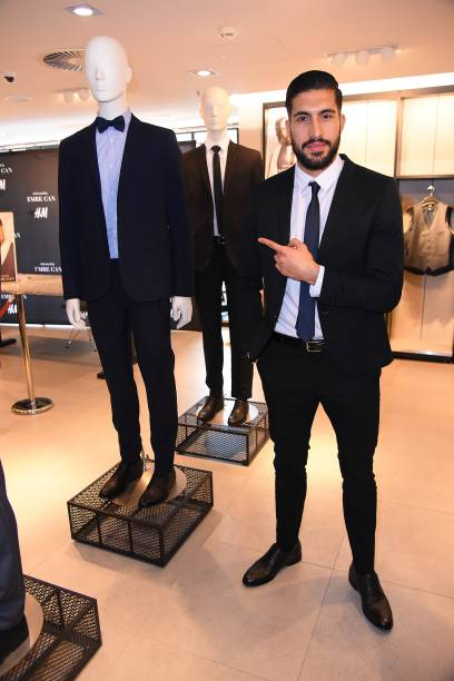 emre can x h m collection launch in frankfurt photos and images getty images. Black Bedroom Furniture Sets. Home Design Ideas