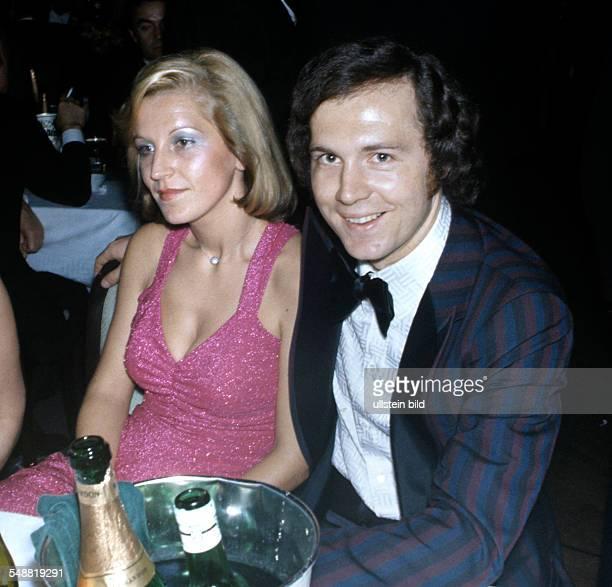 German footballer Franz Beckenbauer and his wife Brigitte