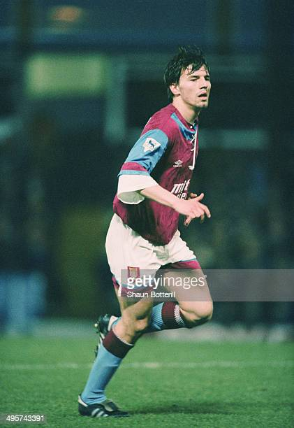 German footballer Matthias Breitkreutz playing for Aston Villa FC in an English Premier League match against Sheffield United at Villa Park...