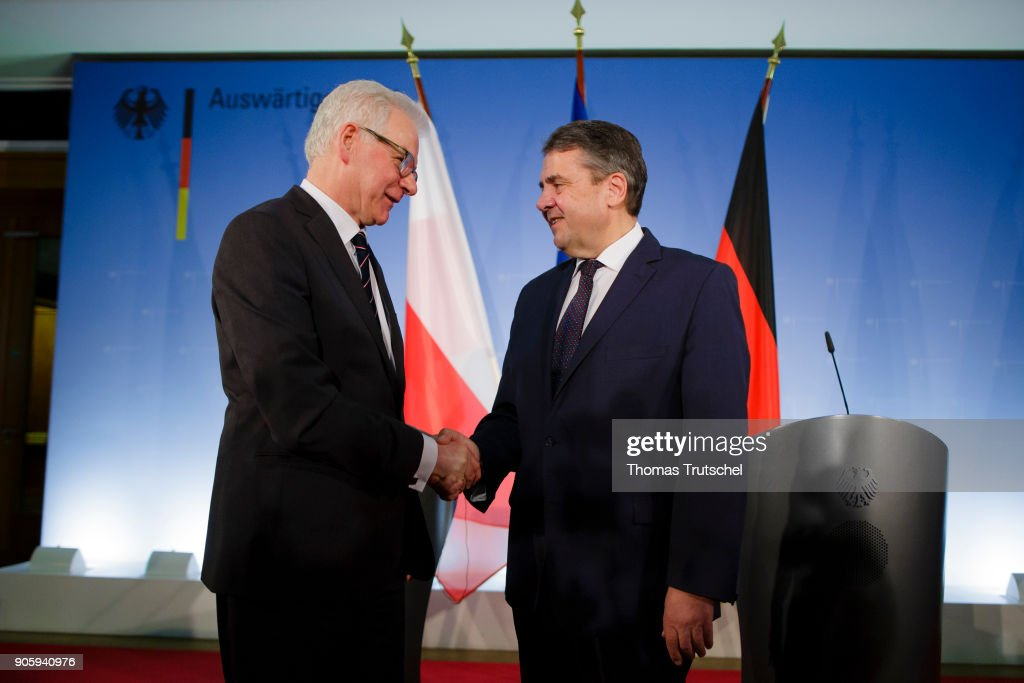 New Polish Foreign Minister Visits Germany : News Photo