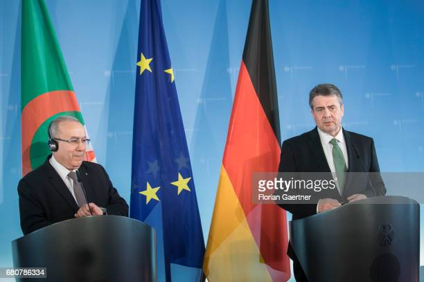 German Foreign Minister and Vice Chancellor Sigmar Gabriel speaks to the media after the meeting with Ramtane Lamamra , Foreign Minister of Algeria,...