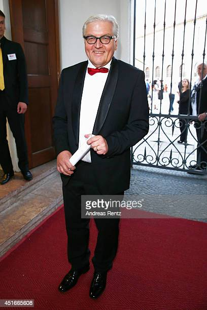German Foreign Minister Frank Walter Steinmeier attends the Bernhard Wicki Award at Cuvilles Theatre on July 3 2014 in Munich Germany