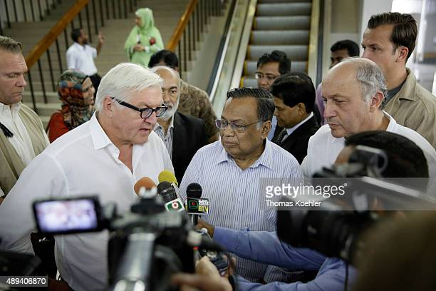 German Foreign Minister FrankWalter Steinmeier and French Foreign minister Laurent Fabius and the Foreign Minister of Bangladesh Abul Hasan Mahmud...