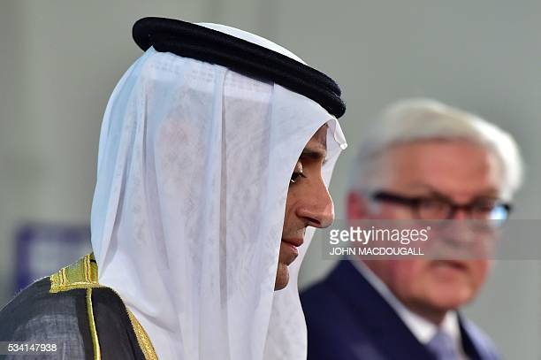 German Foreign Minister FrankWalter Steinmeier and his Saudi counterpart Adel alJubeir give a joint press conference on May 25 2016 at the Foreign...