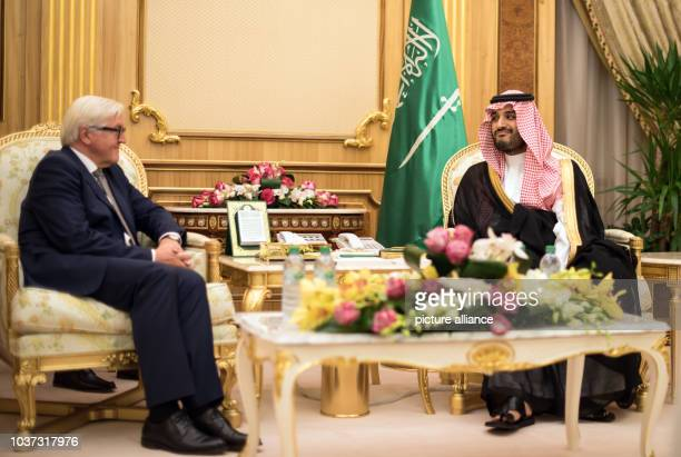 German Foreign Minister FrankWalter Steinmeier and Mohammad bin Salman Al Saud deputy crown prince of Saudi Arabia and minister of defence meet in...