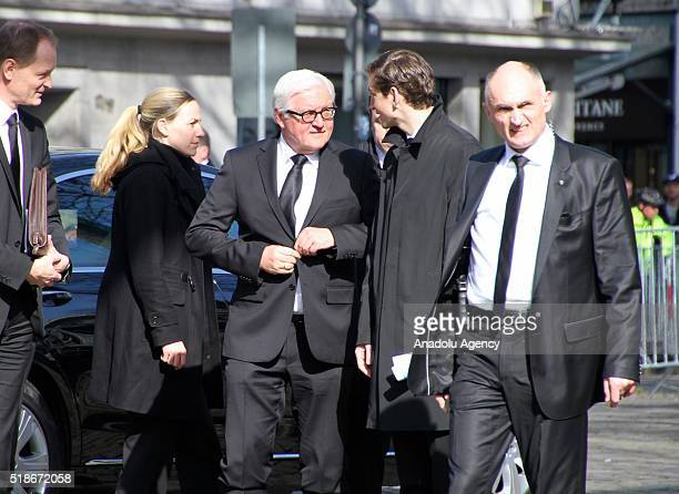 German Foreign Minister Frank-Walter Steinmeier attends the commemoration for the late former Foreign Minister of Germany Guido Westerwelle who has...