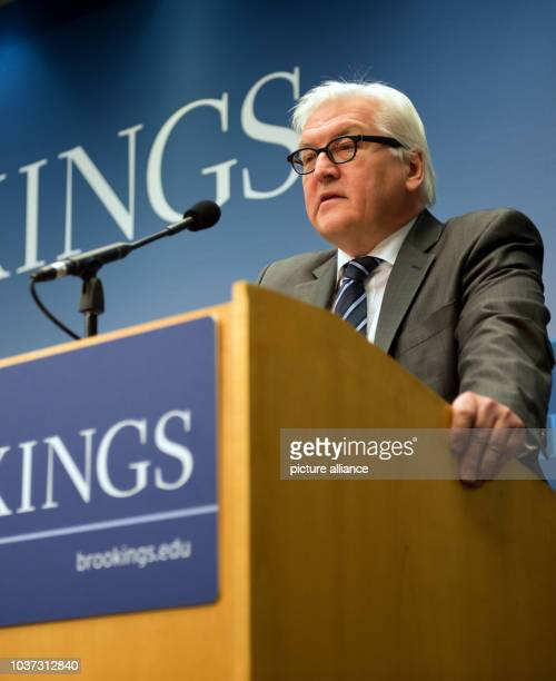 German Foreign Minister Frank-Walter Steinmeier delivers a speech about 'Transatlantic Ties for a New Generation' at Brookings Institution in...