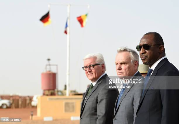 German Foreign Minister FrankWalter Steinmeier French Foreign Minister JeanMarc Ayrault and Malian Foreign Minister Abdoulaye Diop participate in a...