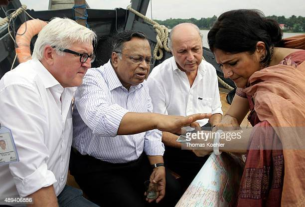 German Foreign Minister FrankWalter Steinmeier French Foreign Minister Laurent Fabius and Foreign Minister of Bangladesh Abul Hasan Mahmud Ali and...