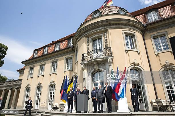 German Foreign Minister FrankWalter Steinmeier French Foreign Minister JeanMarc Ayrault Dutch Foreign Minister Bert Koenders Italian Foreign Minister...