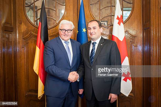 German Foreign Minister Frank-Walter Steinmeier gets together with Dimitri Kumsischwili , Debuty Prime Minister of Georgia, on July 01, 2016 in...