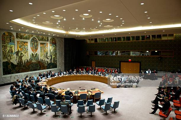 German Foreign Minister FrankWalter Steinmeier holds a speech as the chairman of OSCE in United Nations Security Council during his visit to the...