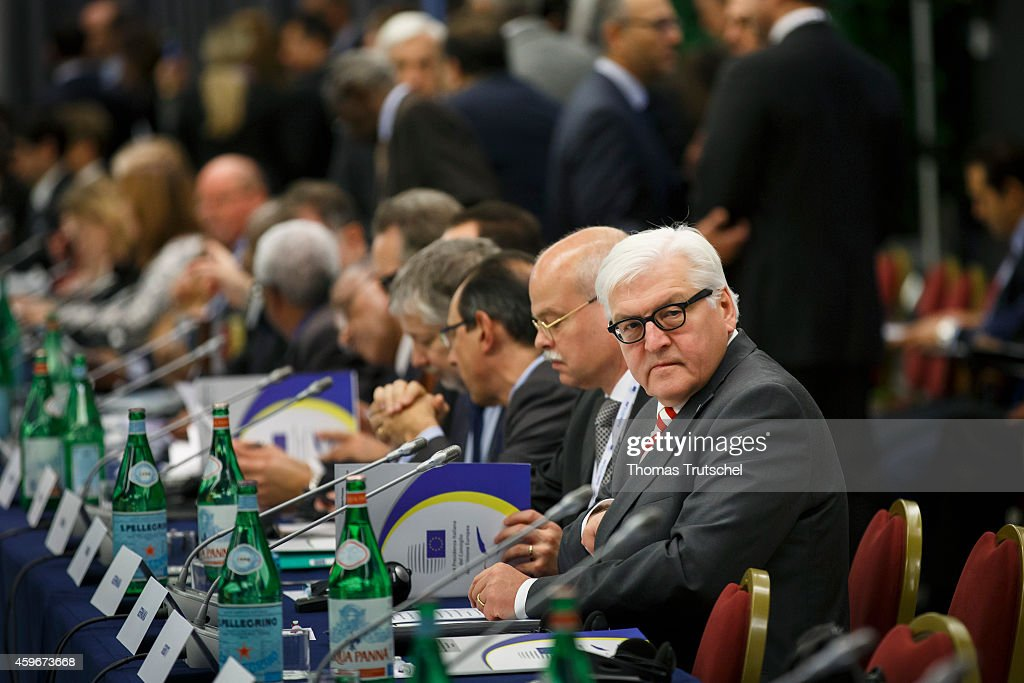 German Foreign Minister Frank-Walter Steinmeier is seen before the Ministerial Conference to launch the Khartoum Process on November 28, 2014 in Rome, Italy.