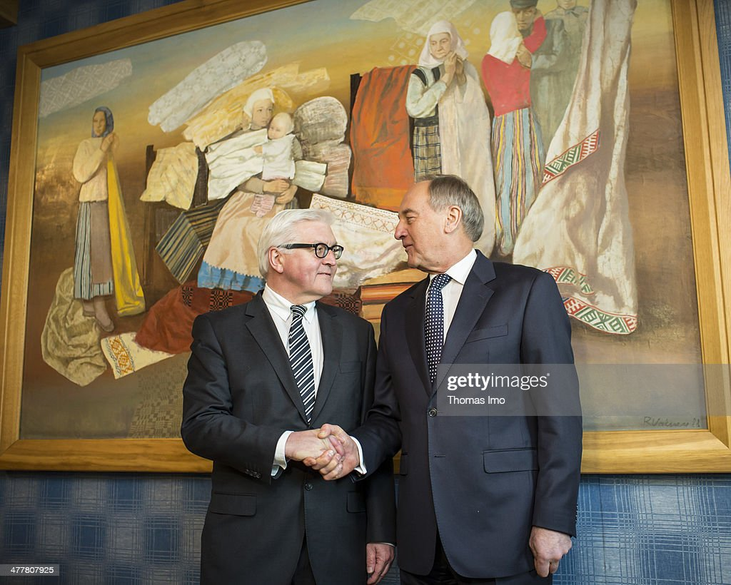 German Foreign Minister Frank-Walter Steinmeier Visits Baltic States