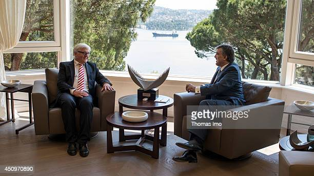 German Foreign Minister FrankWalter Steinmeier meets the Turkish President President Abdullah Gul in Istanbul June 21 2014 in Istanbul Turkey
