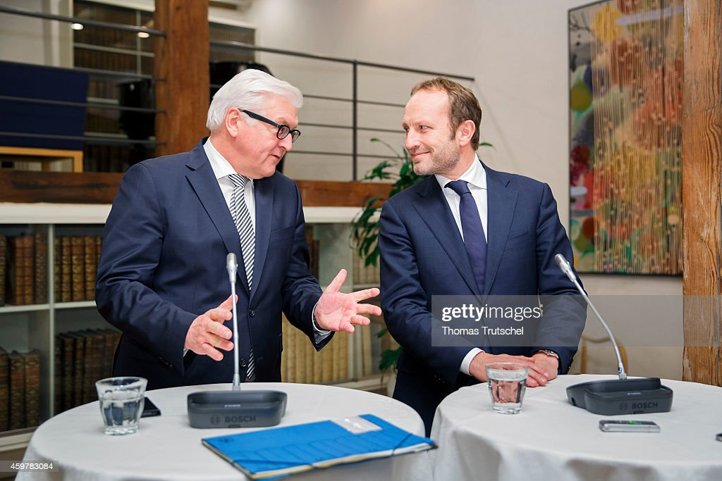 German Foreign Minister Frank-Walter Steinmeier (L) meets with Denmark's Foreign Minister Martin Lidegaard on December 01, 2014 in Copenhagen, Denmark. Steinmeier meets with his counterparts from Denmark, Sweden and Finland.