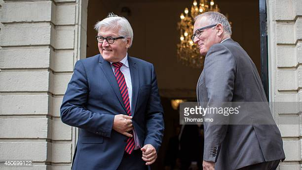 German Foreign Minister FrankWalter Steinmeier meets with Dutch Foreign Minister Frans Timmermans on June 16 2014 in The Hague Netherlands
